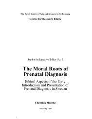 The Moral Roots of Prenatal Diagnosis