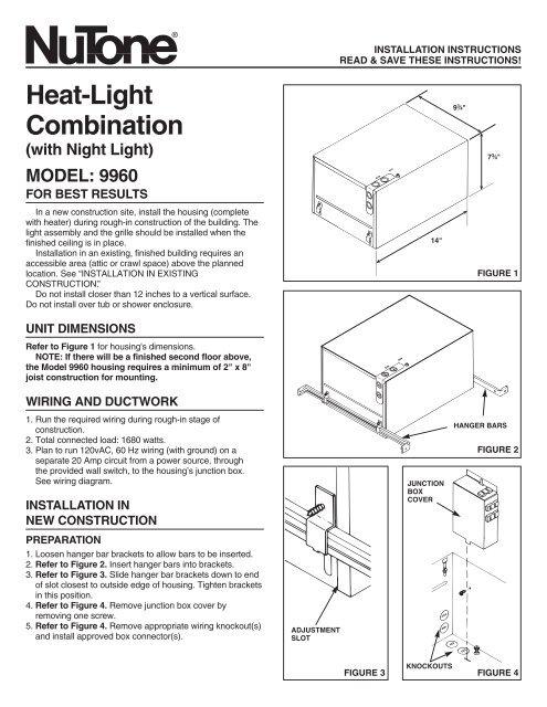 Nutone Ceiling Heater Wiring Diagram