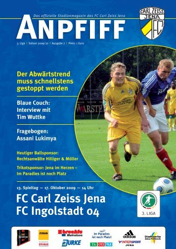 FC Carl Zeiss Jena FC Ingolstadt 04