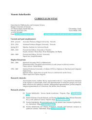 CV - Mathematics & Computer Science