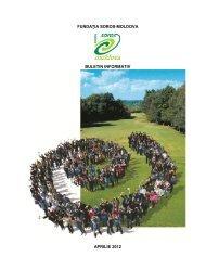 FUNDAŢIA SOROS-MOLDOVA BULETIN INFORMATIV APRILIE 2012