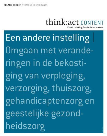 Een andere instelling - Roland Berger Strategy Consultants