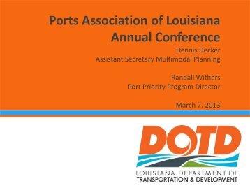 1.5MB, Dennis Decker, March 7th, 2013 - Ports Association of ...