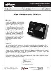 (AUTO-113) APEX 4000 PS - Flowserve Corporation