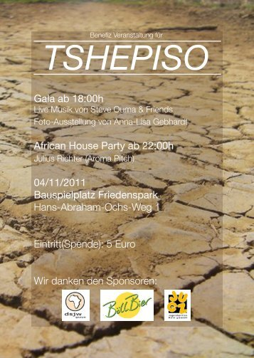 Gala ab 18:00h African House Party ab 22:00h 04/11/2011 ...