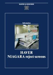 HAVER NIAGARA reject screens