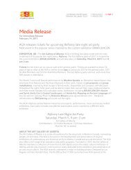 Media Release - Art Gallery of Alberta
