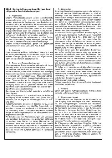 AGB 110705 ECAD GmbH - Ecad-gmbh.eu