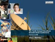 The Tenth Annual Needham Growth Stock Conference