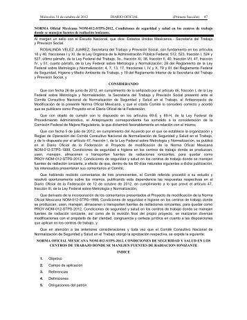 NOM-012-STPS-2012 - Normas Oficiales Mexicanas de Seguridad y ...