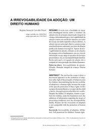 a irrevogabilidade da adoção - revista internacional direito e ...