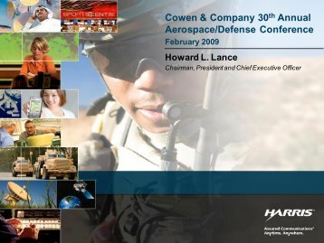 Cowen & Company 30th Annual Aerospace/Defense Conference