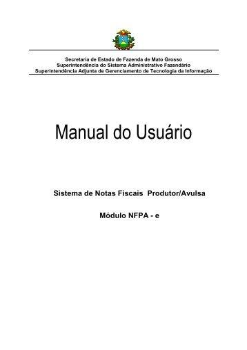 Manual do Usuário - NFPACANC - Sefaz