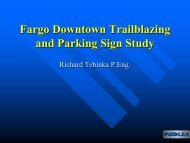 Fargo Downtown Trailblazing and Parking Sign Study Richard ...
