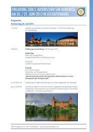 einladung zum 3. bayerischen shk-kongress am 20. / 21. juni 2013 ...
