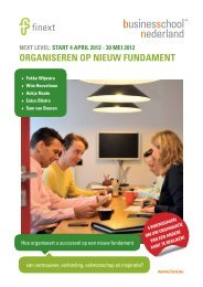 orgaNiSereN op Nieuw fuNdameNt - Business School Netherlands