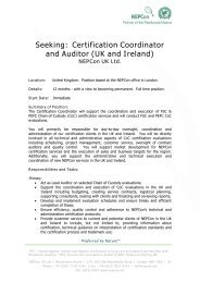 Certification Coordinator and Auditor (UK and Ireland) - NEPCon