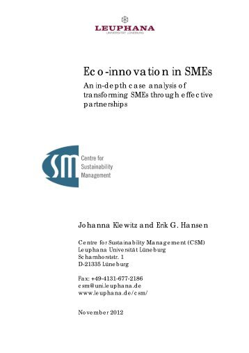 importance of innovation in sme The importance of export competitiveness (harris and moffatt, 2011) for small- and medium-sized  tance for sme innovation of the national 'skills ecosystem' and related legal, vocational education and industrial relations systems (cooney, 2010) partnering or collaborative working for innova.