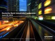 Deutsche Bank Industrials Conference