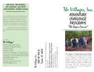 Adventure Challenge Brochure - Thevillagesinc.org