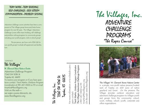 Adventure Challenge Brochure - Thevillagesinc.org
