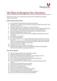 101 Ways to Recognise Your Volunteers - Volunteering Australia