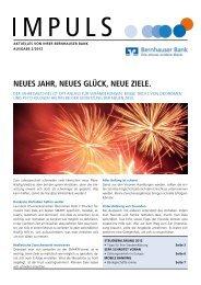 IMPULS 2012 Ausgabe 2 - Bernhauser Bank eG
