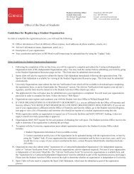 Office of the Dean of Students Guidelines for Registering a Student ...