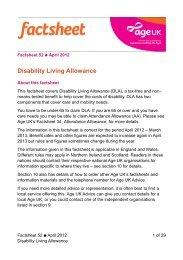 Disability Living Allowance - Birmingham Disability Resource Centre