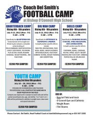 FOOTBALL CAMP - Bishop O'Connell High School