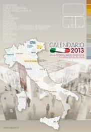 Calendario 2013 delle manifestazioni fieristiche italiane - Aefi