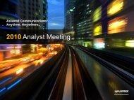 2010 Analyst Meeting