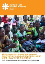 results-based financing - Action for Global Health