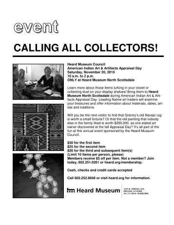 calling all collectors! - Heard Museum
