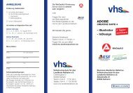 Adobe Flyer.indd - VHS - Landkreis Kelheim