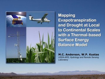 A Simple Model for Estimating Regional Surface ... - US Drought Portal