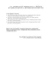 5.5. Komplexní odmocnina a řešení kvadratických a binomických ...