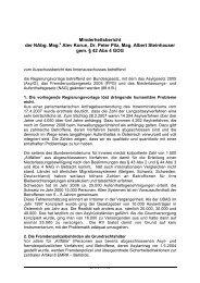 Minderheitsbericht der Nabg. Mag.a Alev Korun, Dr. Peter Pilz, Mag ...