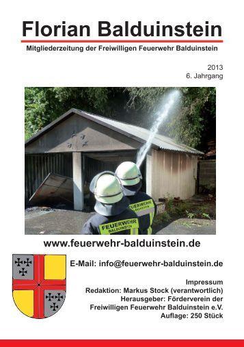 Download der Zeitung 2013 - Freiwillige Feuerwehr Balduinstein