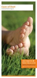 Care of Feet - Arthritis New Zealand