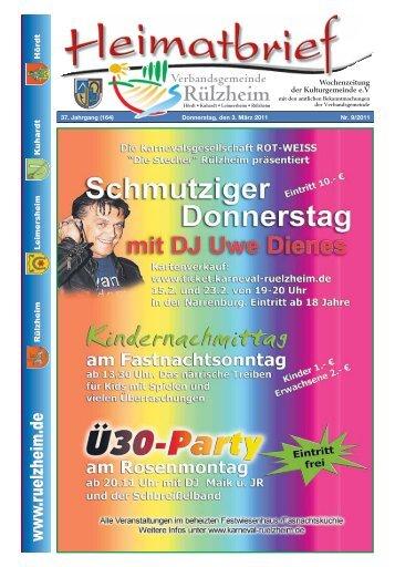 Freitag, den 11. März 2011 Treffpunkt - Verbandsgemeinde Rülzheim