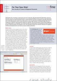 Datasheet: Next Generation Documentum Upgrade - fme US
