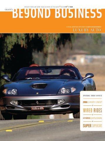 Crain's 2006 Luxury Auto Guide - Crain's Chicago Business