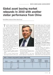 Global asset leasing market rebounds in 2010 with another stellar ...