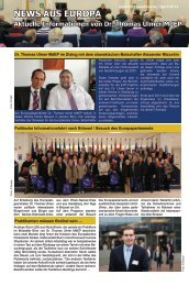 News aus Europa - Ausgabe: April 2013 - Dr. Thomas Ulmer MdEP
