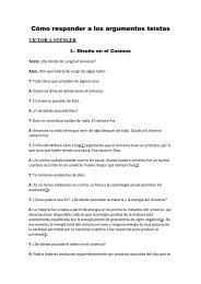 Cómo responder a los argumentos teístas. Víctor ... - Laicismo.org