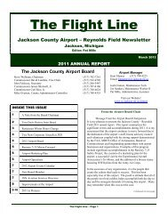 Jackson County Airport - Reynolds Field 2011 Annual Report