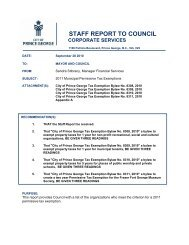 2011 Municipal Permissive Tax Exemptions - City of Prince George