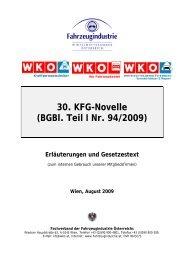30. KFG-Novelle (BGBl. Teil I Nr. 94/2009)