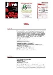 AGENDA 15-30 ABRIL.pdf - Consell Comarcal de la Segarra